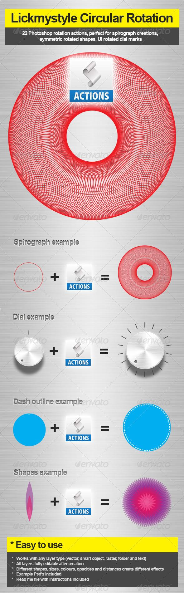 Add-ons - Circular Rotation Action | GraphicRiver