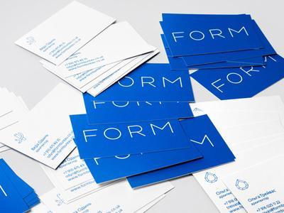 FORM bureau business cards by Flëve
