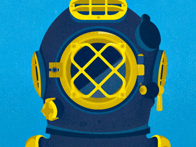 Deep Sea Diving Helmet by Kyle Anthony Miller