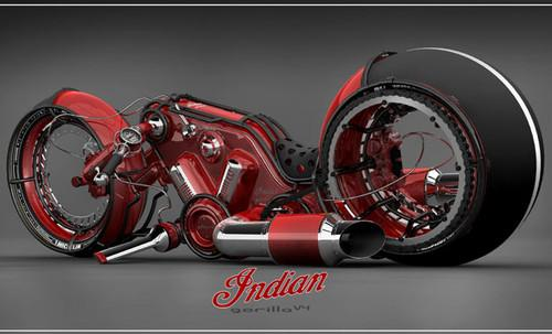 Future Transportation - Indian Gorilla V4 Motorcycle By Vasilatos Ianis