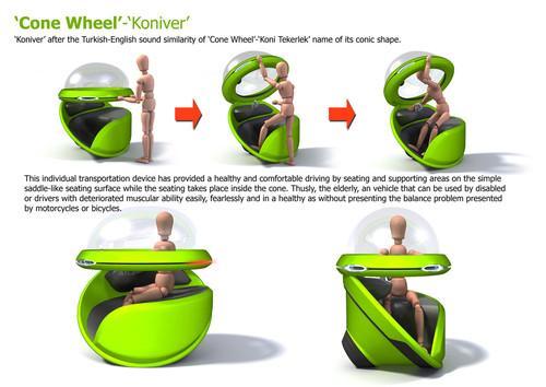 Future Transportation - Cone Wheel – (Koniver) Personal Commuter