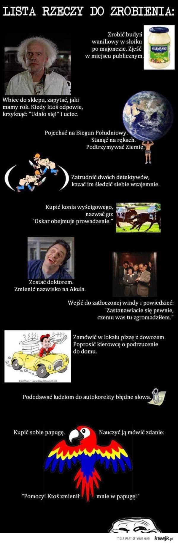 Lista rzeczy do zrobienia - KWEJK.pl
