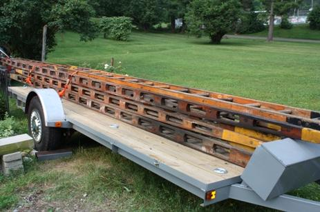 Full complement of Wooden Truss American LaFrance Ground Ladders for sale