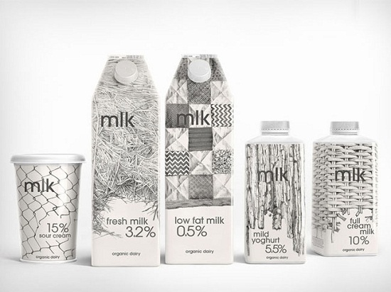 A Showcase of 50 Black & White Creative Package Designs | You the Designer