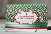 Peppermint boxed letterpress folded cards | Smock | eco stationery