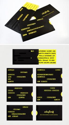 Designspiration — Business Cards. itevenhasawatermark.com » Akufen