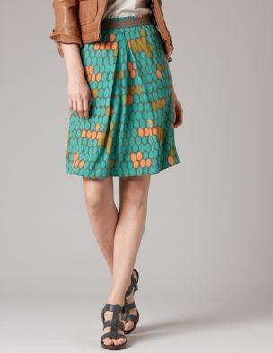 Lookbook / Swishy Viscose Skirt WG403 Above Knee Skirts at Boden