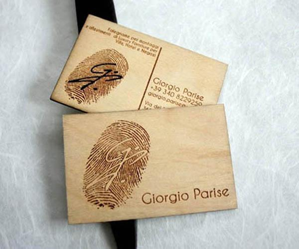 24 Creative Wooden Business Cards