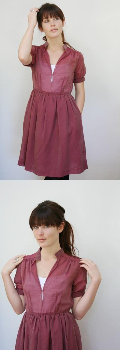 Lookbook / Love the sheer cranberry color