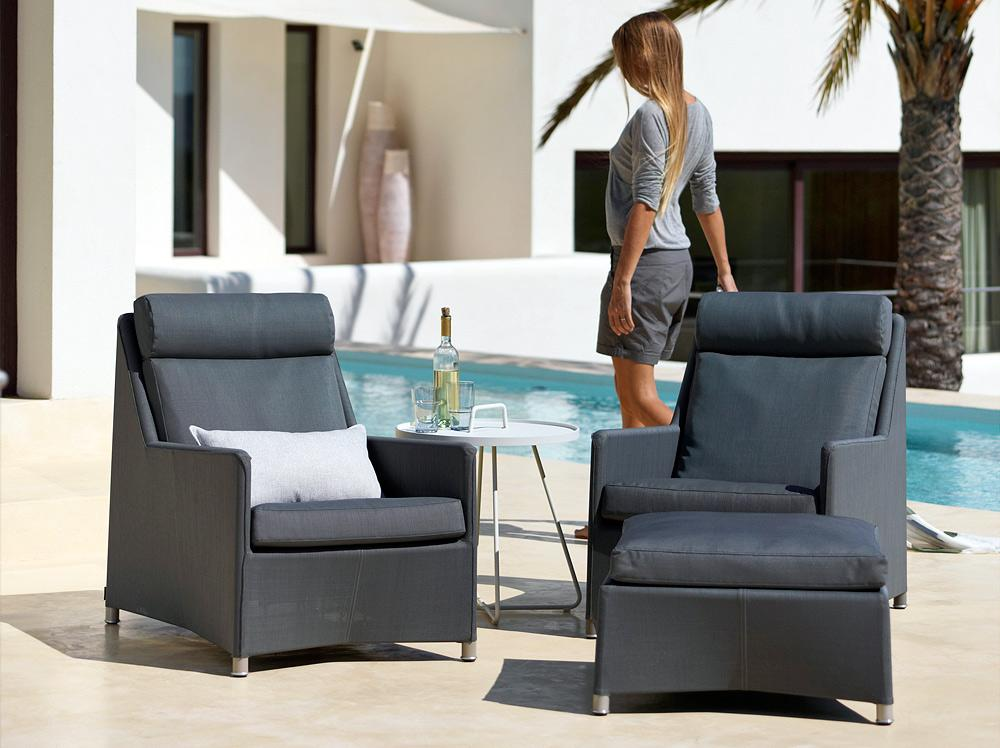 Outdoor Furniture | Diamond High Back Patio Lounge Chair