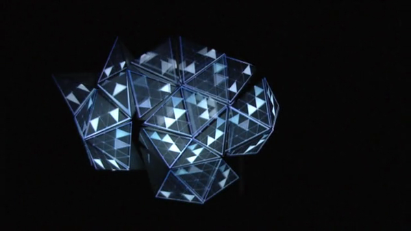 The Polygon Cloud - a projection mapping sculpture