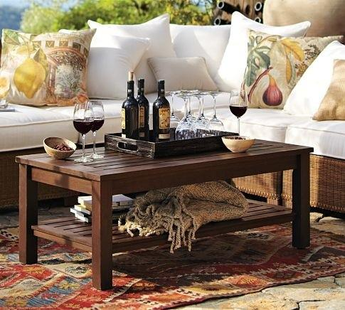 Chesapeake Coffee Table - traditional - outdoor tables - - by Pottery Barn