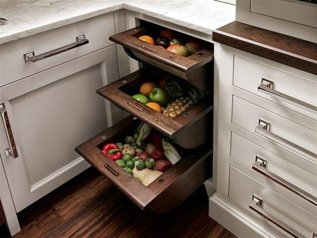 Fruit and Vegetable Drawers - modern - cabinet and drawer organizers - new york - by Trish Namm, Allied ASID - Kent Kitchen Works