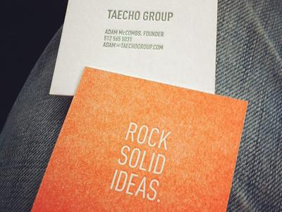 New Taecho Group Biz Cards by Taecho Group
