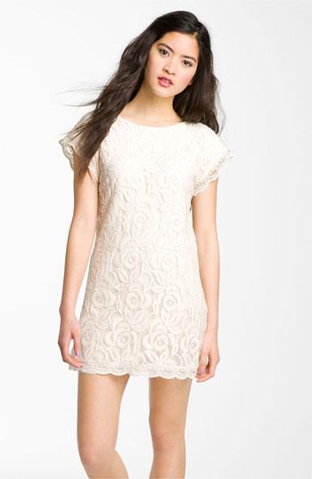 Fire Lace Shift Dress | Nordstrom