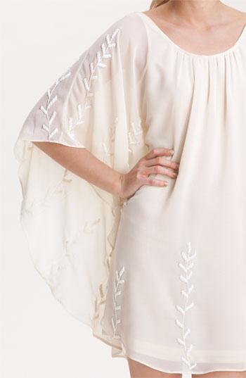 Free People Embroidered Chiffon Cape Dress   Nordstrom
