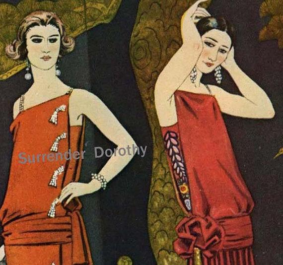 Studies In Red French Flapper Fashions Belle by SurrenderDorothy