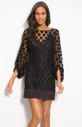 Laundry by Shelli Segal Polka Dot Lace Shift Dress | Nordstrom