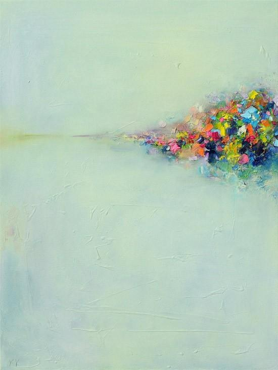 HeART / Abstract Landscape 3 Fine Art Giclee PRINT 85x11 from by siiso