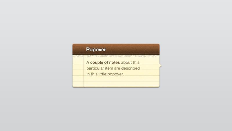 Popover Note | PixelsDaily