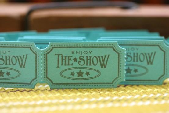 Design Inspiration / Handmade Hawaiian Blue Carnival Tickets Enjoy the Show by chia83