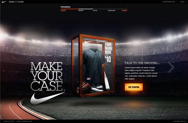 Nike CRM Microsite sur le réseau