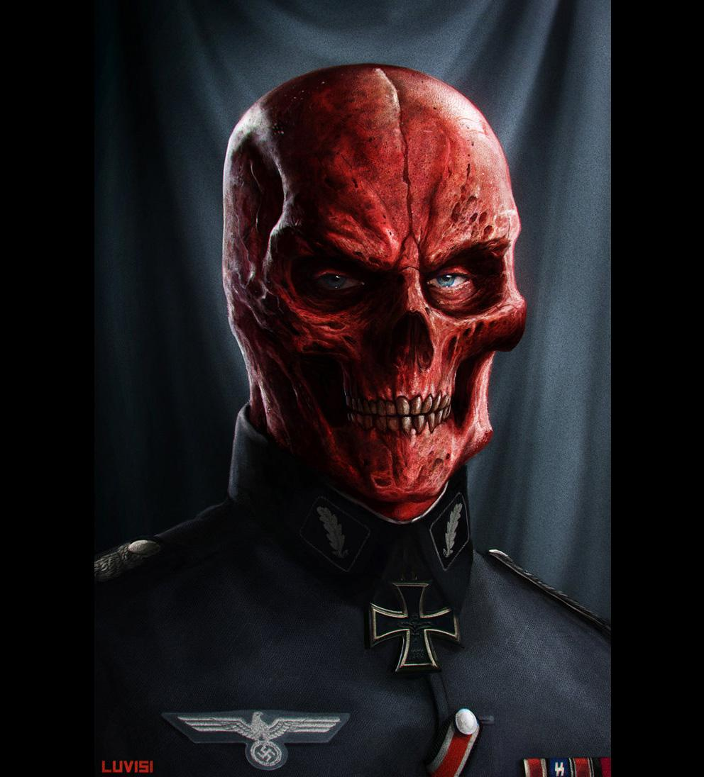 Portrait Art: Red Skull - 3D, Digital paintings, Fantasy, Photoshop, Portrait