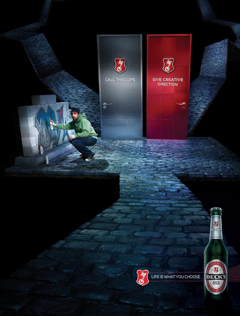 Bière Beck: Graffiti | Annonces du Monde ™