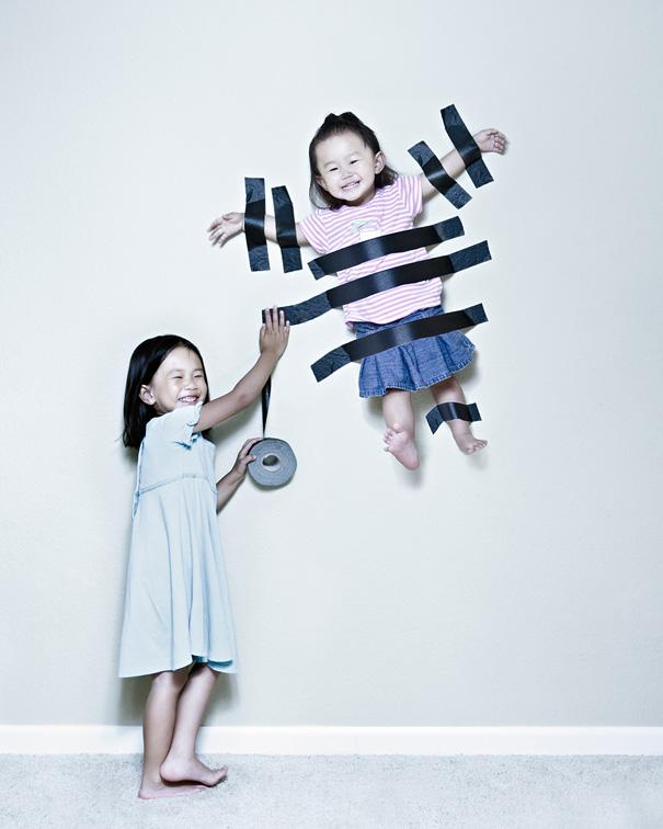 Creative Dad Takes Crazy Photos Of Daughters | Bored Panda