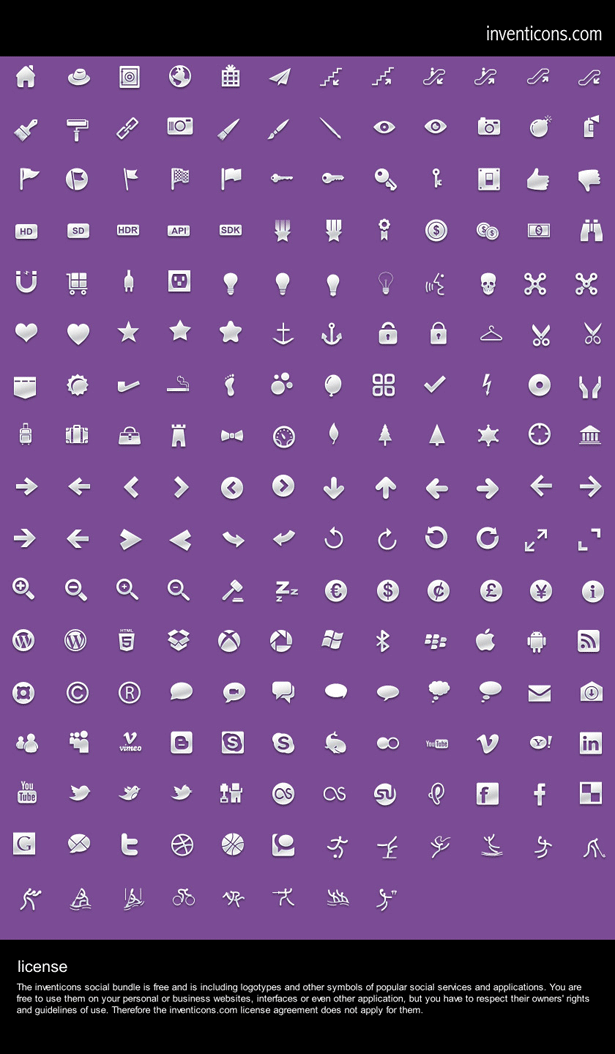 Free download: 200 icons from Inventicons | Webdesigner Depot