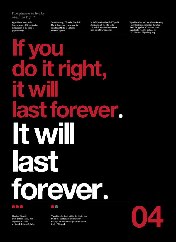 If you do it right, it will last forever.