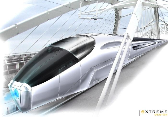 high speed train rendering by Fabien Vesseron at Coroflot