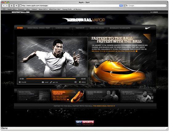 Nike le plus rapide à la balle, plus rapide avec la balle / 2007 sur le réseau