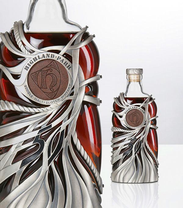 Bouteilles magnifique et unique pour les boissons de luxe