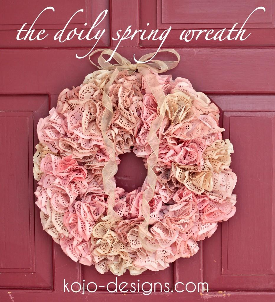Doily Spring Wreath | kojodesigns