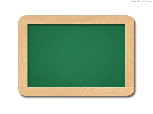 Chalkboard with chalk brush (PSD) | PSDGraphics