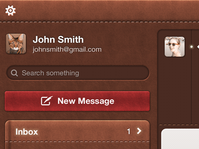 Leather Mail App by Sergey Shmidt