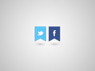 Twitter & Facebook by Artcore