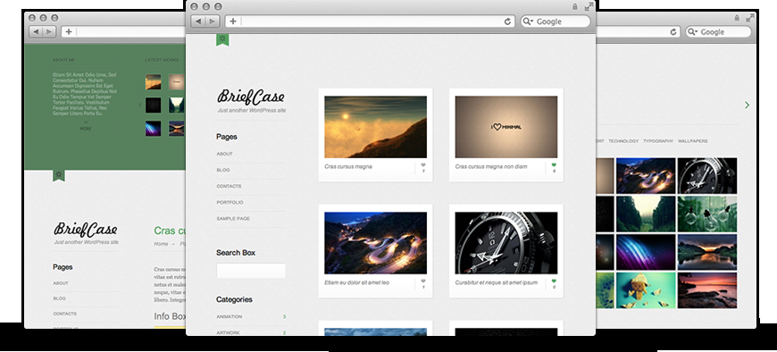 Briefcase: Free WordPress Theme - Rockable Themes