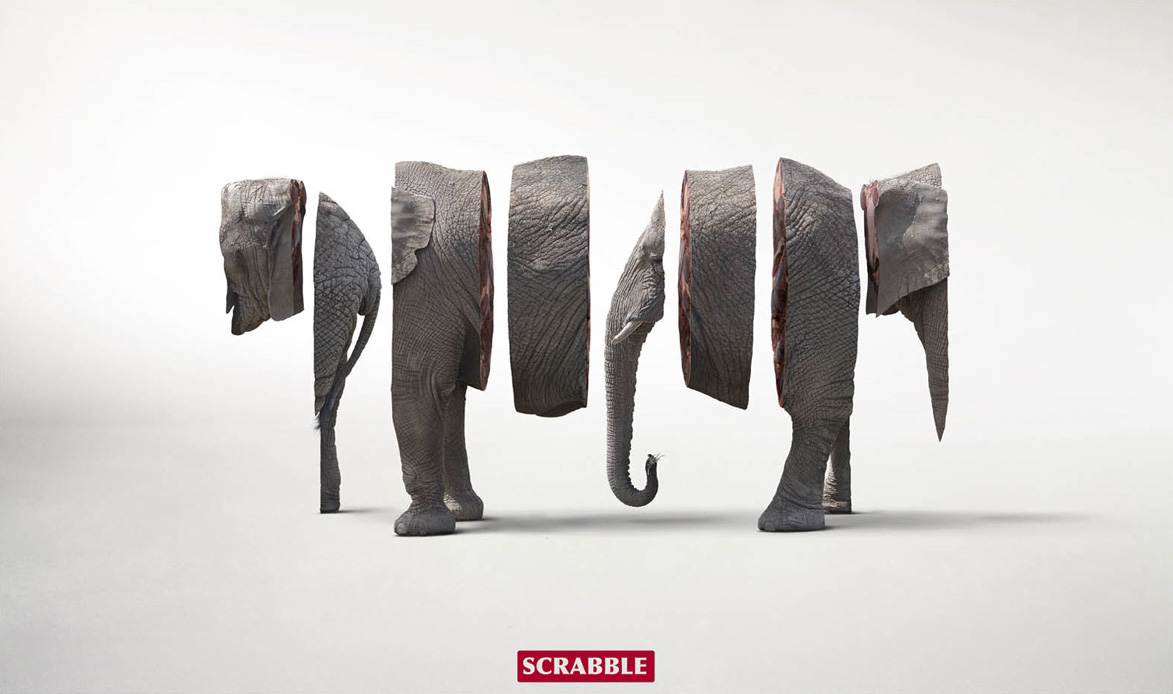 "Scrabble: Elephant | Ads of the Worldâ""¢"