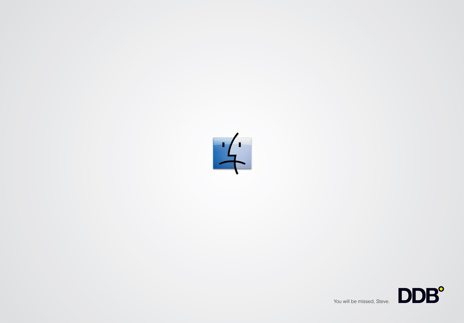 "DDB: Homage to Steve Jobs, Sad face | Ads of the Worldâ""¢"