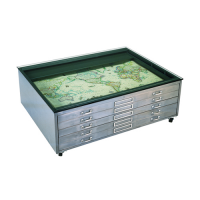 Fancy - Architectural File Coffee Table - Large (Glass Top, Casters and Steel ex.) | styledevie.com