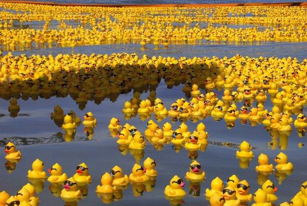 Rubber Duck Sea by ~whispering-hills