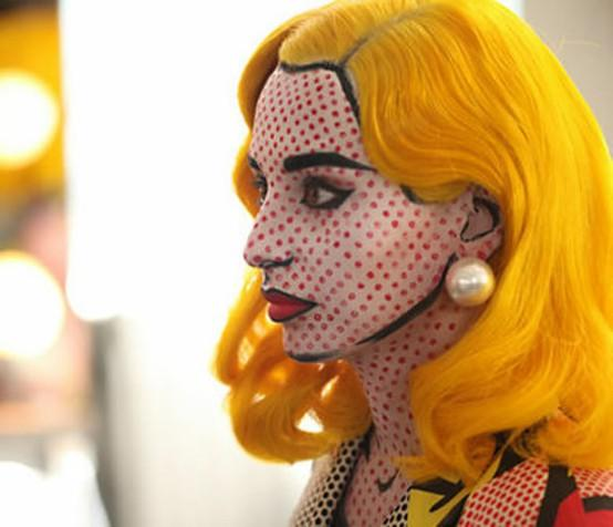 Halloween / Real Life Lichtenstein Comic Girl by M.A.C. Cosmetics