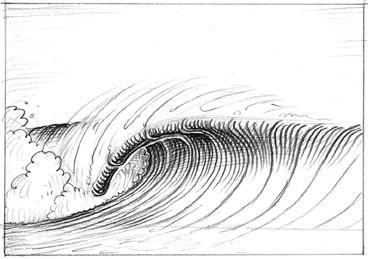 Surf / drawing of wave