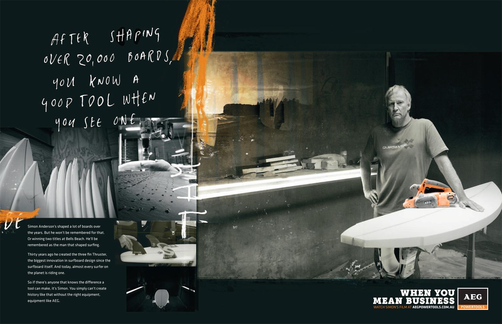 "AEG: Tradesman Series, Simon Anderson | Ads of the Worldâ""¢"