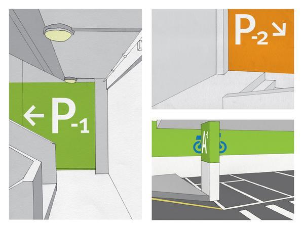 Wayfinding Project - Underground Car-Park