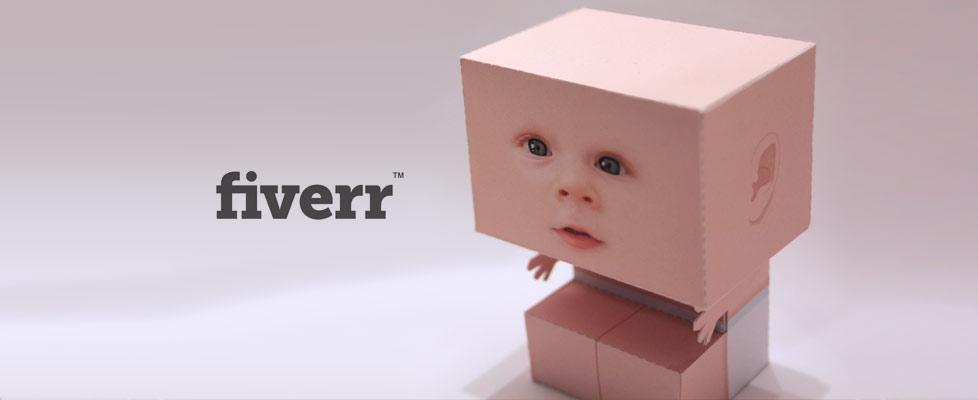 Baby papertoy for Fiverr.com