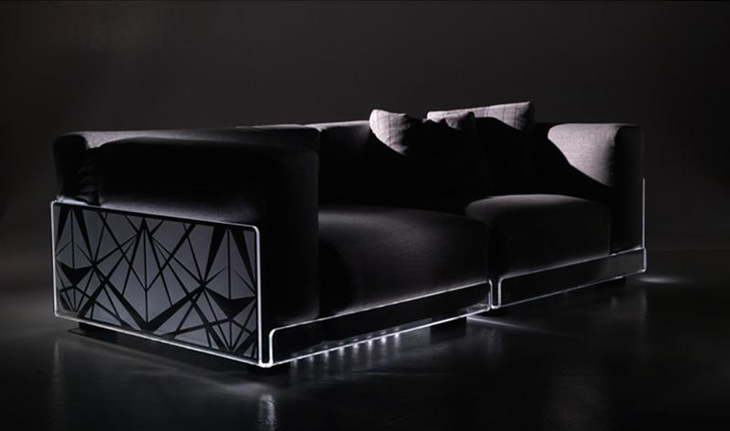 Modern Minimalist Asami LED Light Sofa Design Photos | Home Interior - Exterior Designs | Layout | Architectural | Furniture |Garden