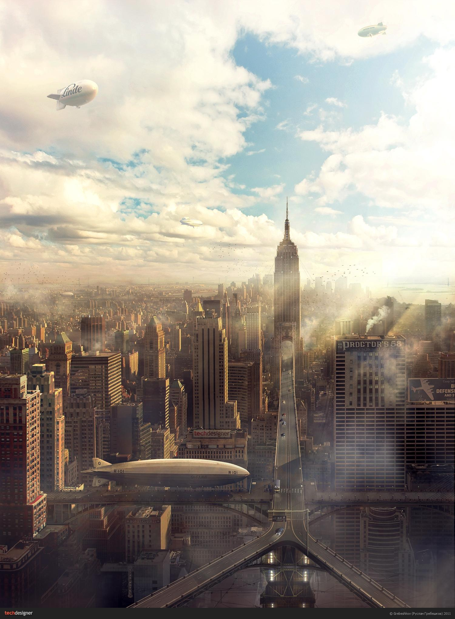 City near future. (Tehdizayner.ru Blogs - Blog about design: Grebeshkov)